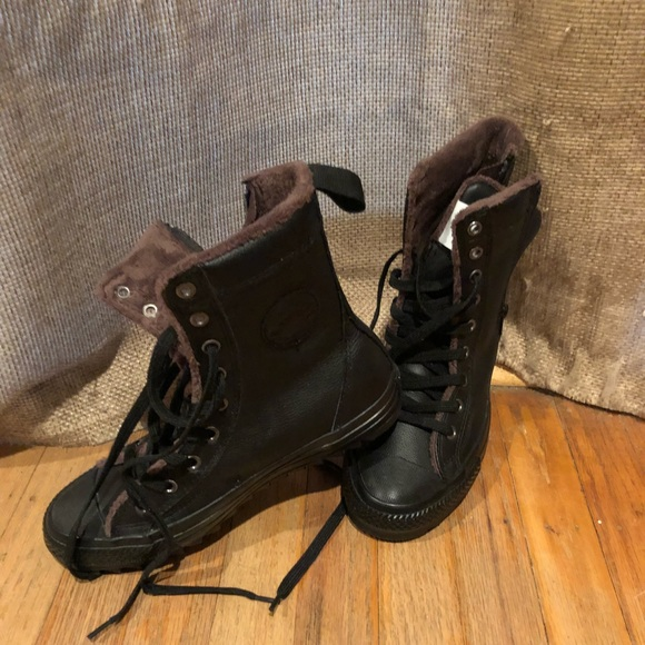 converse lined boots